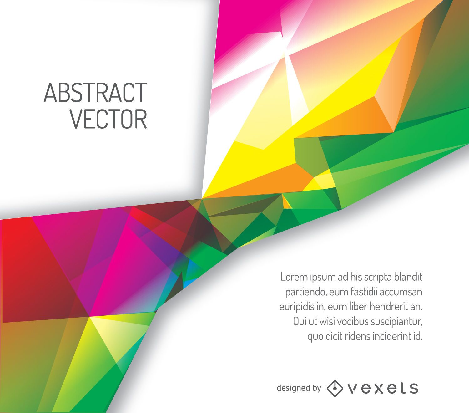 Colorful polygonal cover template - Vector download