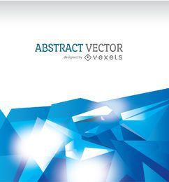 Abstrato base poligonal em tons de azuis