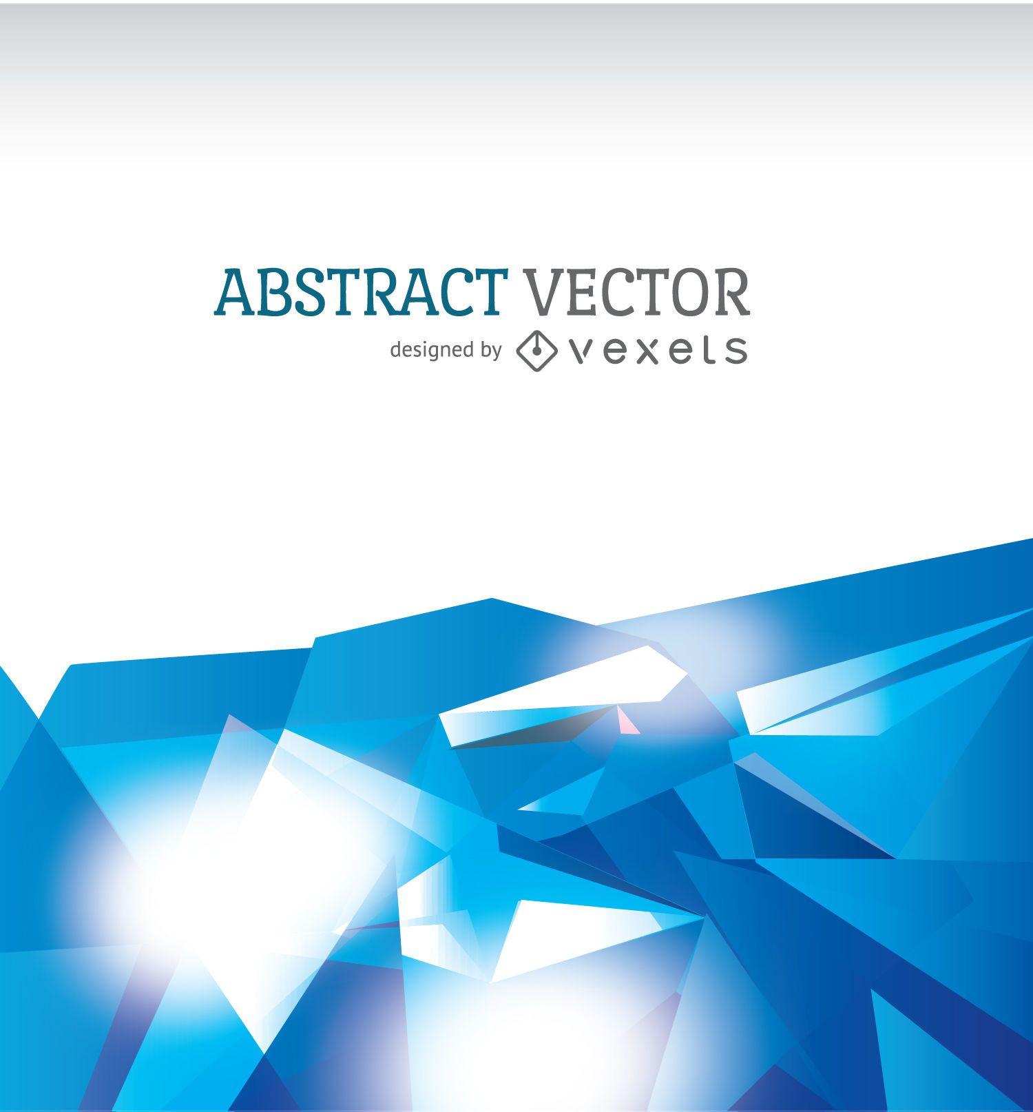 Fondo poligonal abstracto en tonos azules
