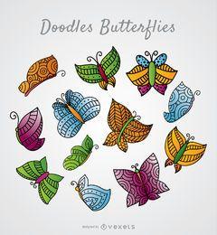 Bunte und verzierte Schmetterlinge