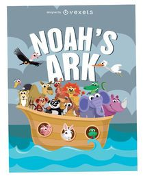 Cartoon Noah's Ark Poster