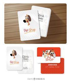 Cartões de visitas engraçados dos animais
