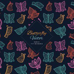 Verzierter und stilvoller Schmetterlingshintergrund