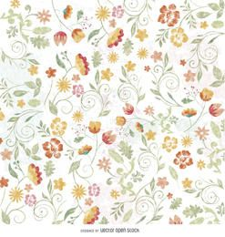 Floral watercolor wallpaper