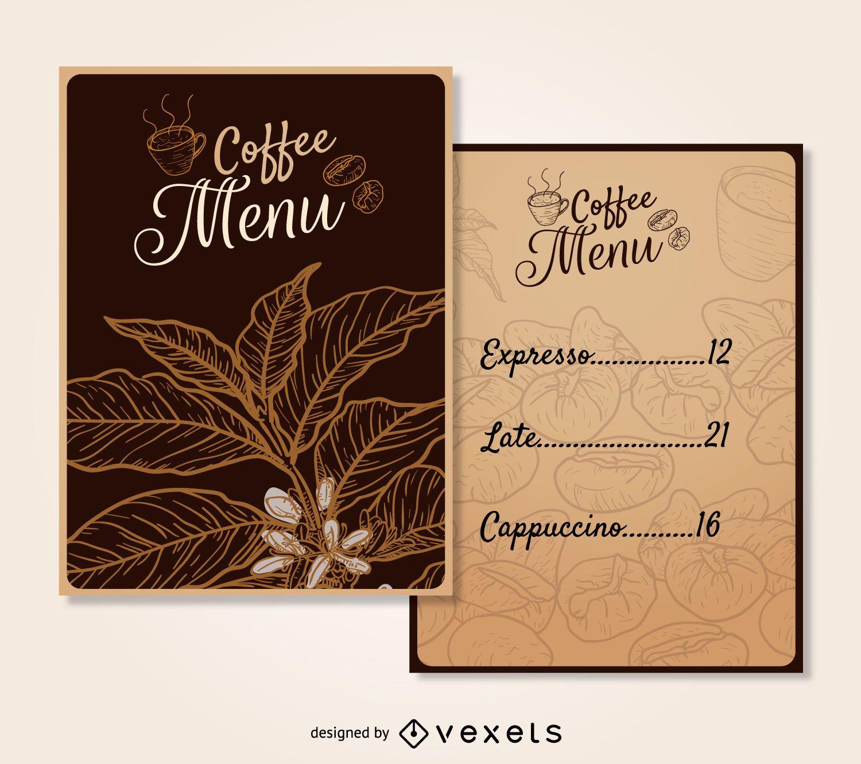 coffee menu template vector download
