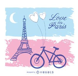 Liebe in Paris Card
