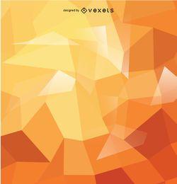 fundo poligonal abstrato em tons alaranjados
