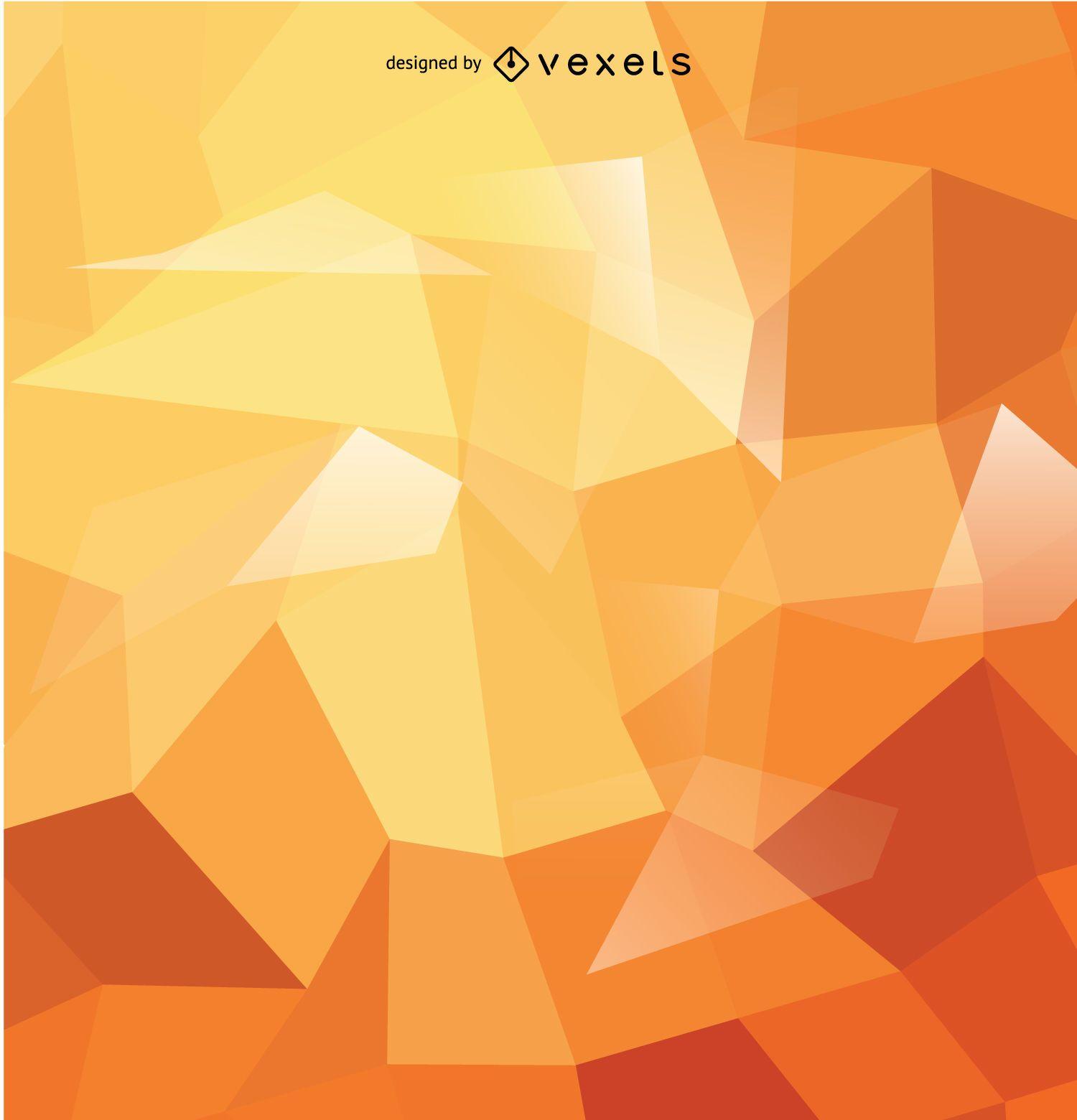 Fondo poligonal abstracto en tonos naranjas