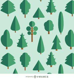 20 Árvores Flat - variados tipos