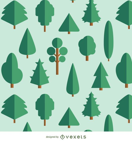 20 Los árboles Flat - variados tipos