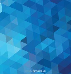 Fundo azul poligonal abstrato