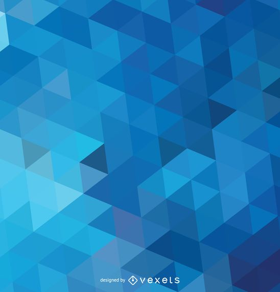 Abstract polygonal blue background