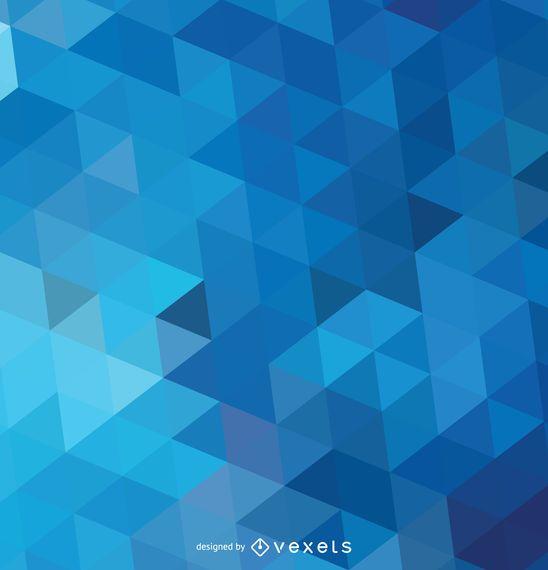 Fondo azul poligonal abstracto