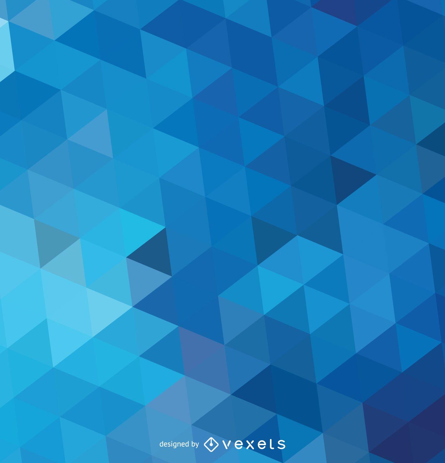Resumen Fondo Azul Poligonal Descargar Vector
