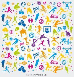 Colorido fondo de deportes olímpicos