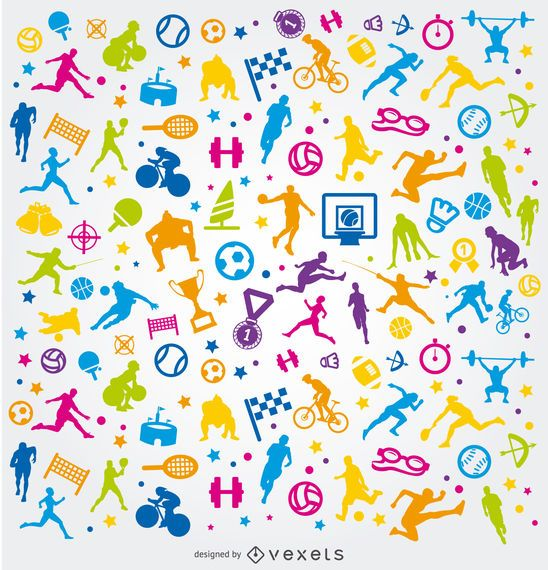 Colorful Olympic sports background