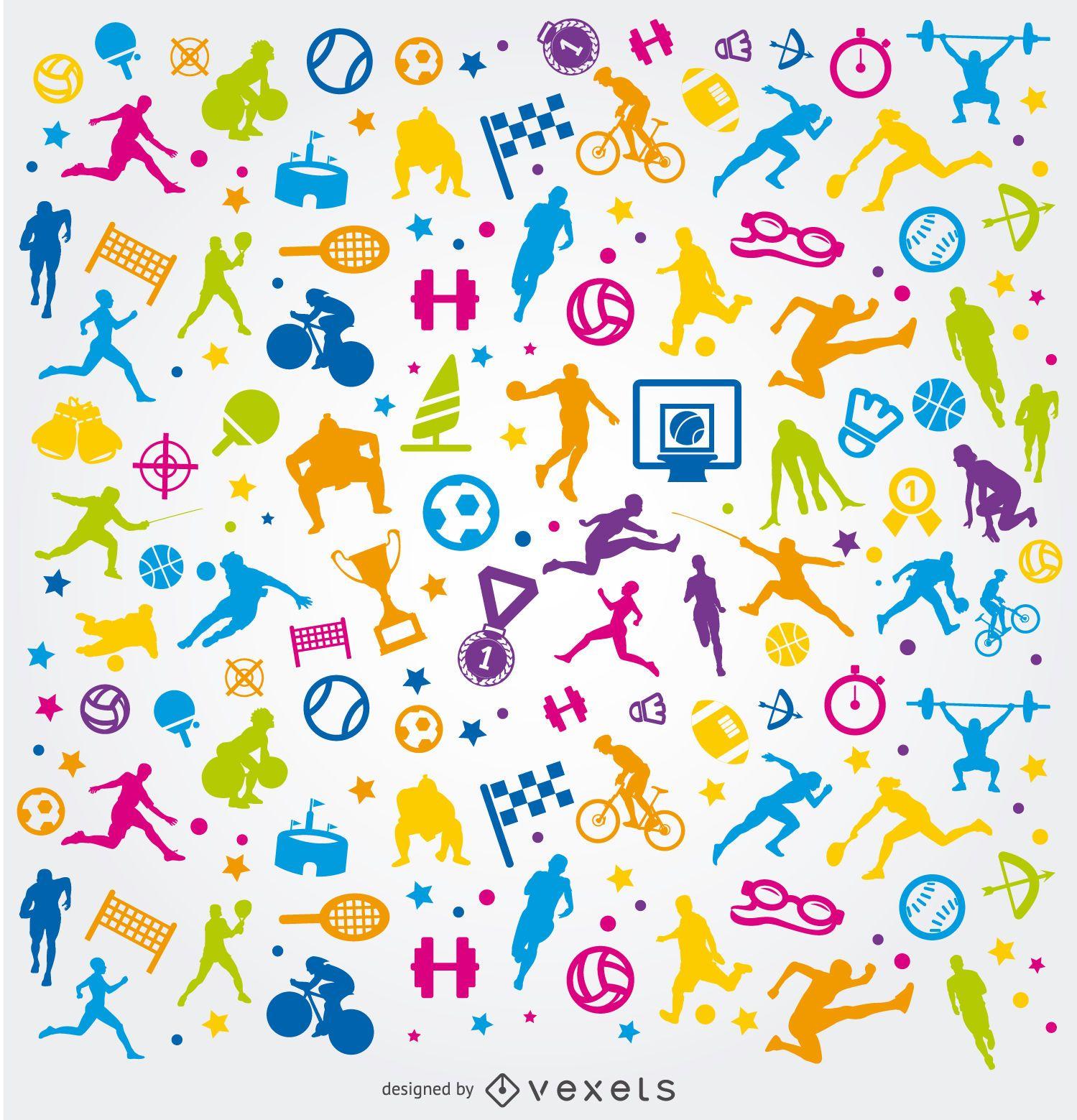 Fondo colorido de deportes olímpicos