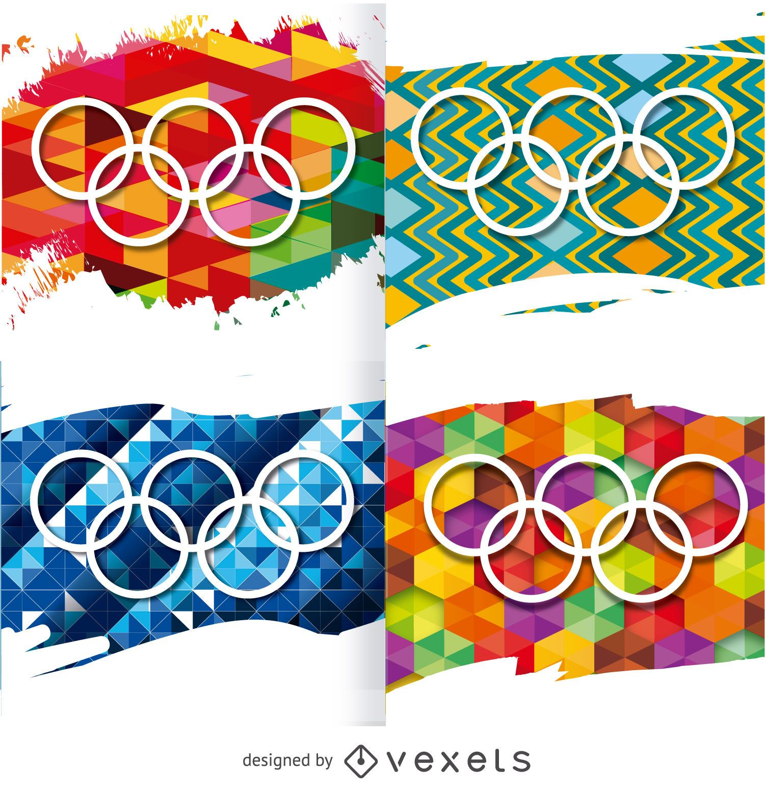 Rio 2016 - Olympic rings on backgrounds