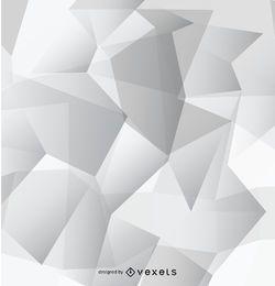 Papel pintado poligonal gris abstracto