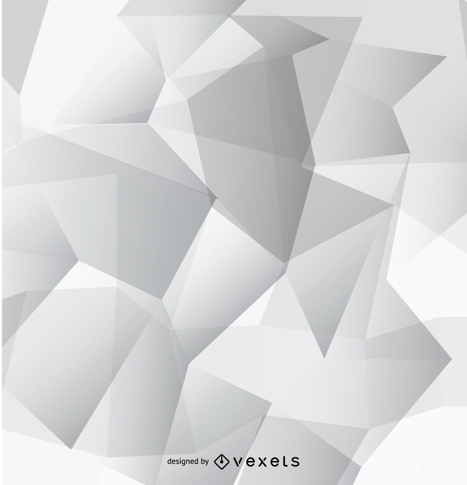 Abstract grey polygonal wallpaper vector download for Grey 3d wallpaper