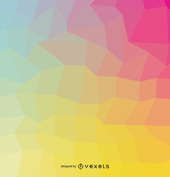 Soft colors geometrical cover