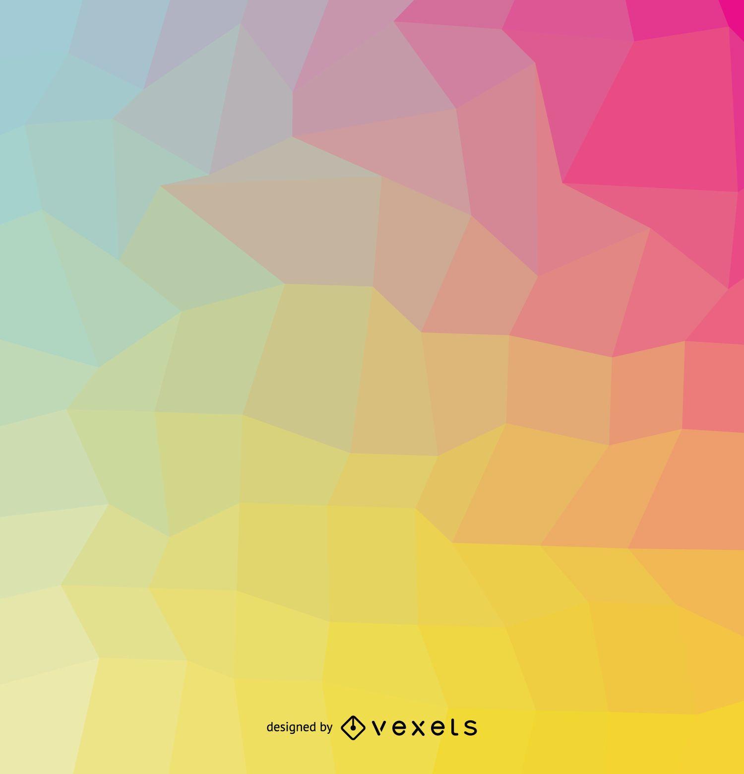 Cubierta geométrica de colores suaves