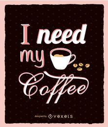 Kaffee Küchenrahmen