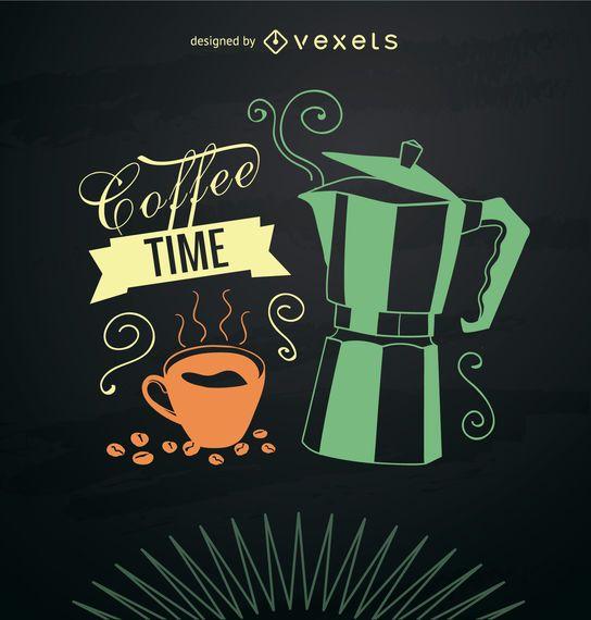 Karte der rauchigen Kaffeemaschine