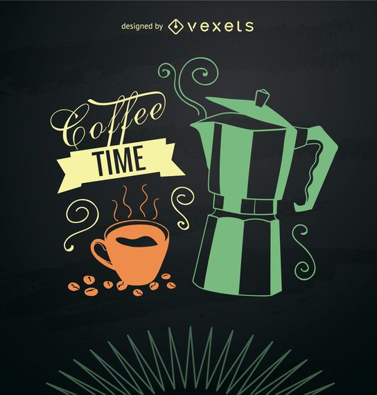 Smoky coffee maker card
