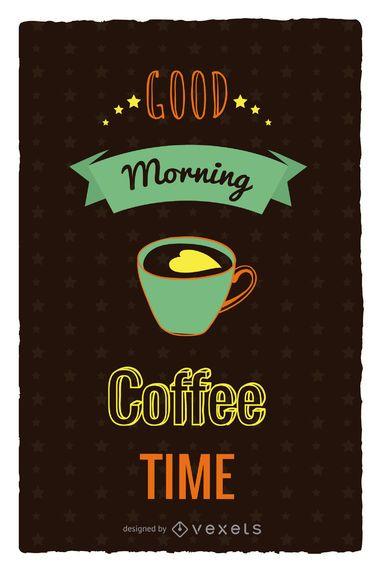 Coffe time retro poster