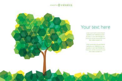 Árvore abstrata de hexágonos