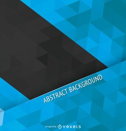 Blue and black polygonal cover