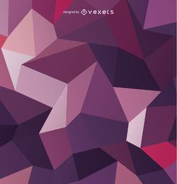 Polygonal 3D purple background