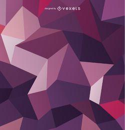Polygonaler purpurroter Hintergrund 3D