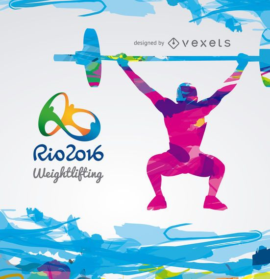 Olimpiadas Rio 2016 - Diseño de levantamiento de pesas.