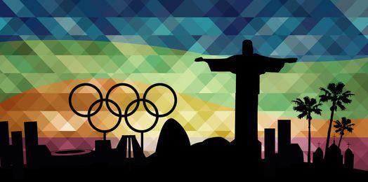 Fondo de monumentos de los Juegos Olímpicos de Río 2016