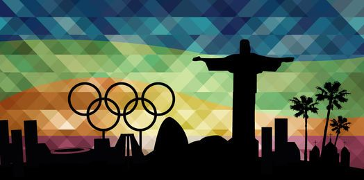 Olympics Rio 2016 landmarks background