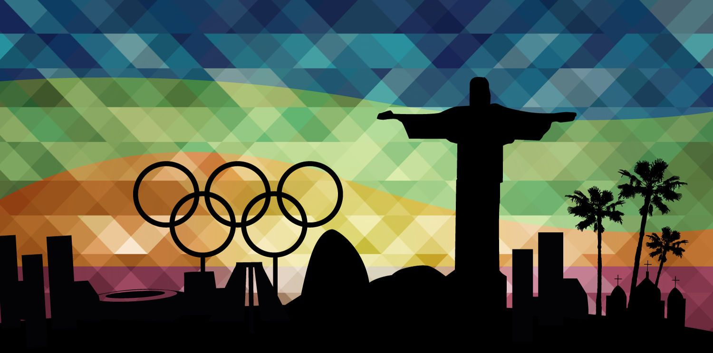 Olympics Rio 2016 Landmarks Background Vector Download