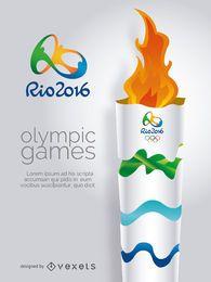 Olympiade Rio 2016-Olympische Fackel