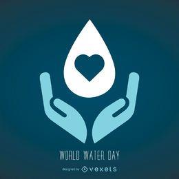 Símbolo del día mundial del agua