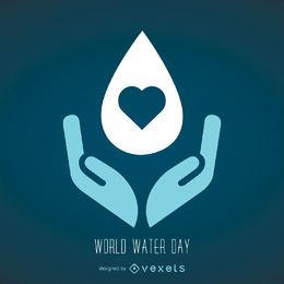 World Water day symbol