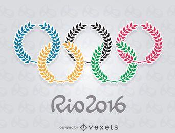 Olimpíadas Rio 2016 - Anéis de Oliva