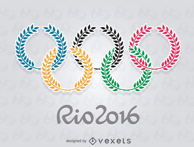 Olympics Rio 2016 - Olive rings