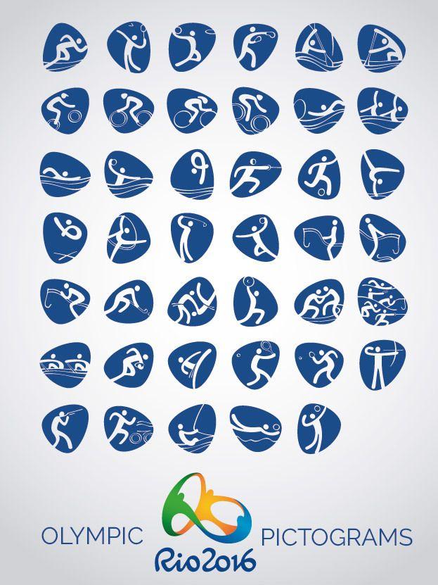 Rio 2016 Vektor Ikonen Piktogramme