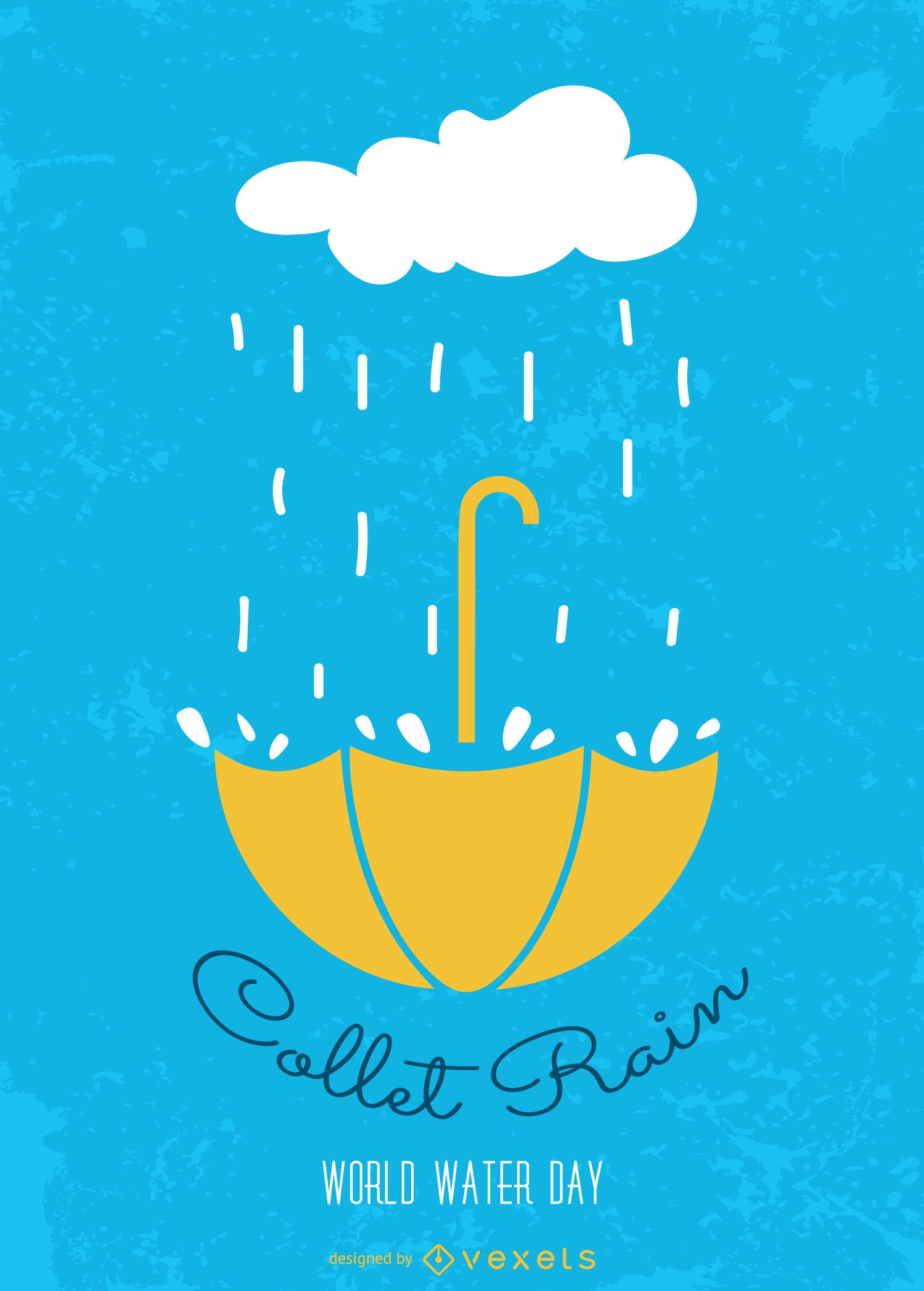 World Water Day Collect Rain Vector Download