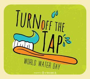 Día Mundial del Agua - cerrar el grifo