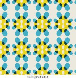 Papel pintado retro azulejo floral