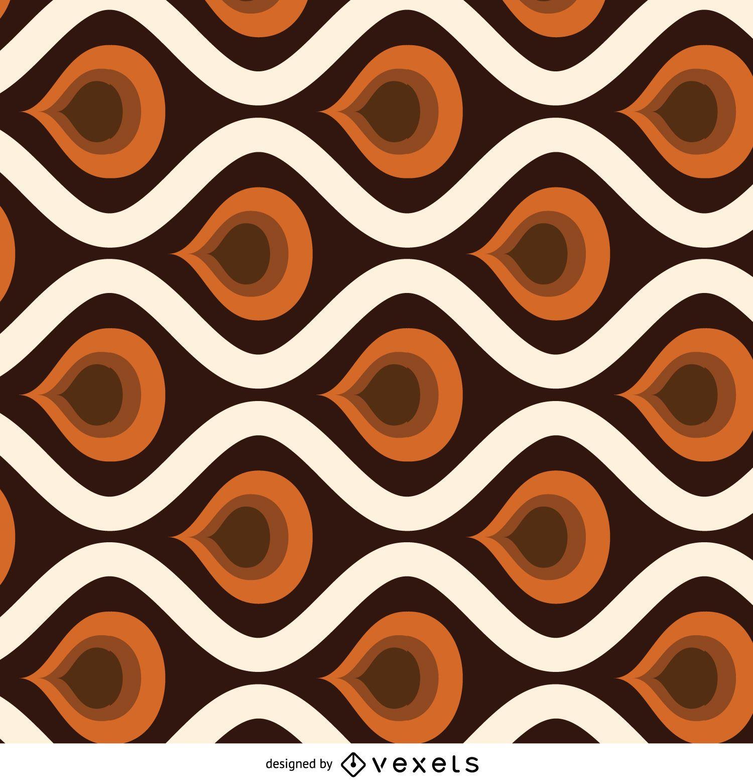 Patrón de mosaico abstracto retro