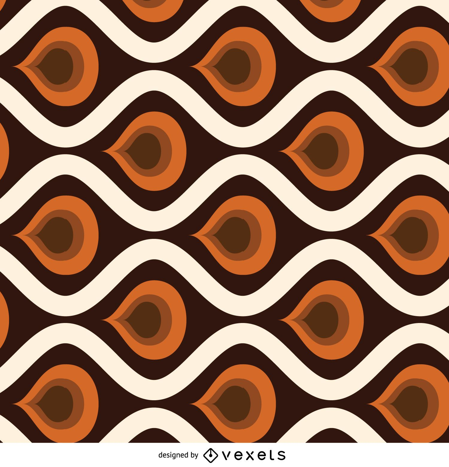 Retro abstract tile pattern