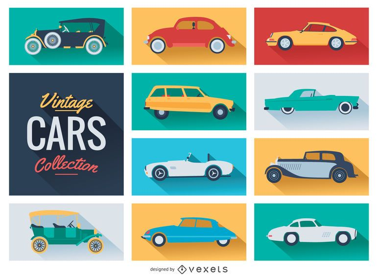 colección de coches de época